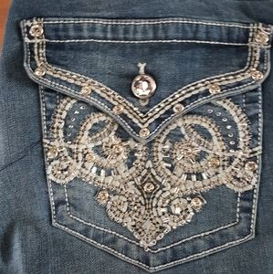 Split ANT Faded Washed Blue Denim Double Button Front Pockets Junior Mini Skirt